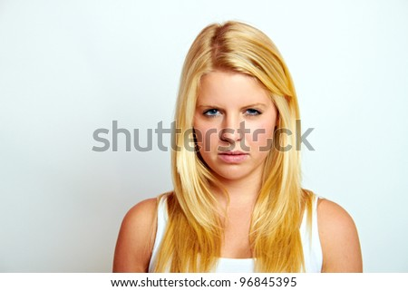 young blond woman - stock photo