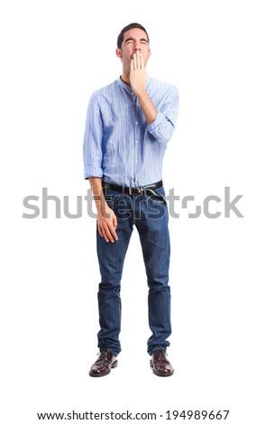 young boring man - stock photo