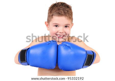 Young boxer - stock photo