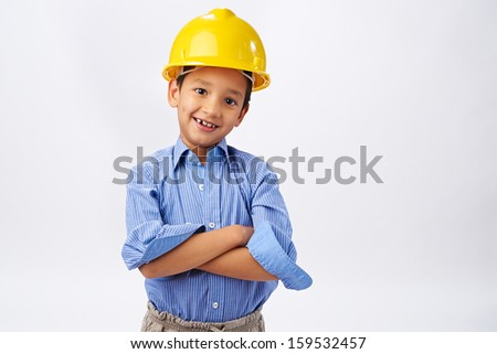 Young boy engineer - stock photo
