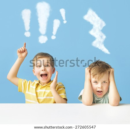 Young brothers - stock photo