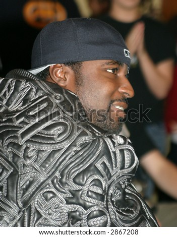 Young Buck, platinum selling musician, member of G-Unit founded by rapper 50 Cents - stock photo