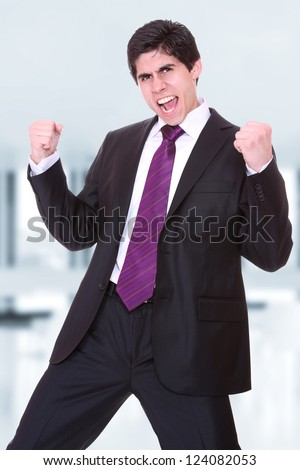 young Business man at the office - stock photo
