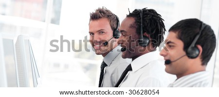 Young Business team working together - stock photo
