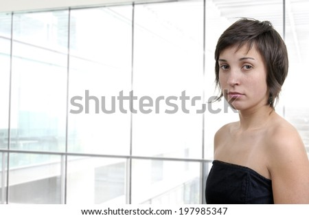 young business woman at the office - stock photo