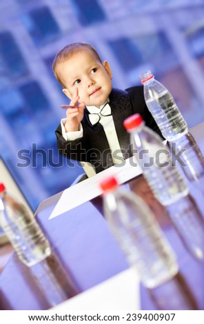 Young businessman at a business meeting - stock photo
