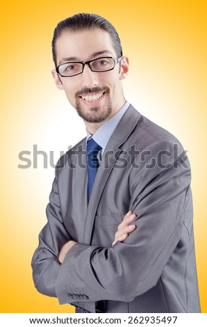 Young businessman isolated on the white - stock photo