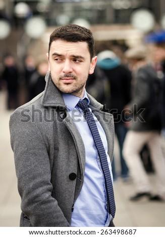 Young businessman portrait - stock photo