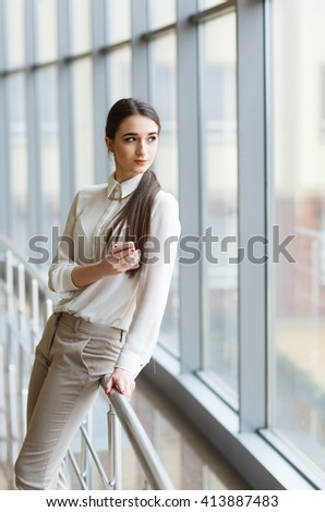 Young businessman with mobilephone.  - stock photo