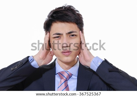 Young businessman worried with a bad business, - stock photo