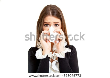 Young businesswoman isolated on white background - stock photo