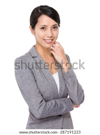 Young businesswoman portrait - stock photo