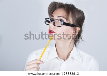Young businesswoman portret - stock photo