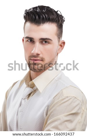 young casual man portrait - stock photo