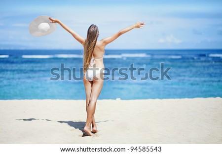Young caucasian woman - stock photo