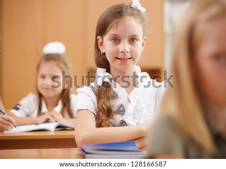 Young children at school - stock photo