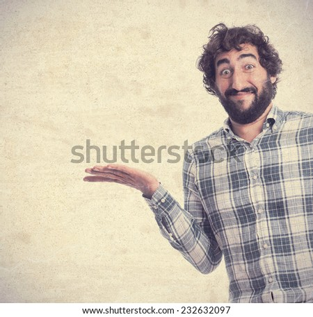 young confused man - stock photo
