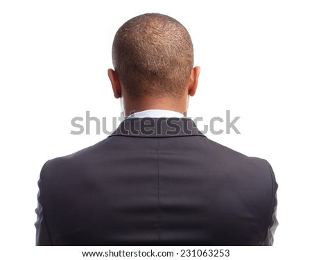 young cool black man back - stock photo