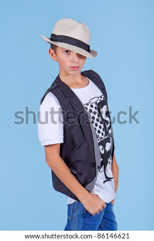 Young cool looking man in a suit - stock photo