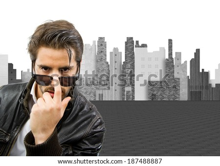 young cool man - stock photo