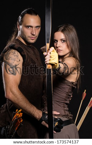 Young couple has some dangerous hobby - stock photo