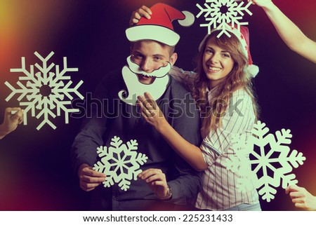 Young couple having fun at the New Year's Party  - stock photo