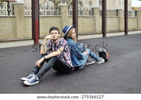 Young couple with relationship difficulties - stock photo
