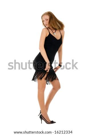 Young dancing girl - stock photo