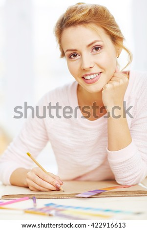 Young designer - stock photo