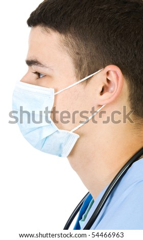 young doctor isolate on white - stock photo