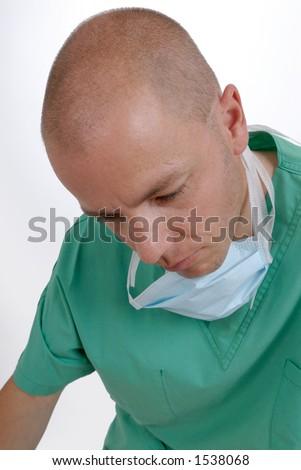 Young doctor. Studio shooting. - stock photo