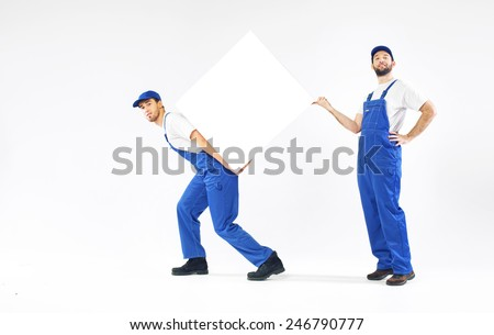 Young engineers - stock photo