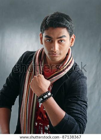 young fashion man model - stock photo