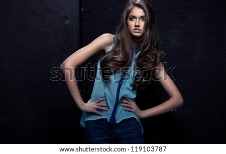 Young fashion woman - stock photo