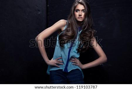 Young fashion woman - stock photo