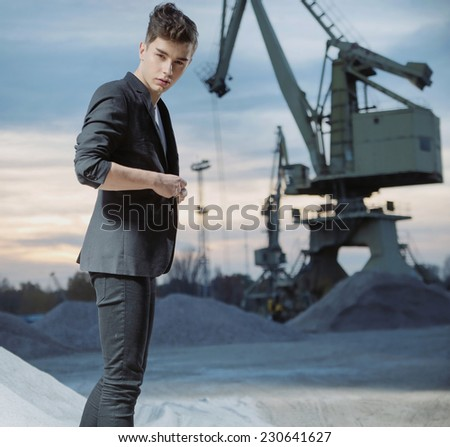 Young fashionable man  - stock photo