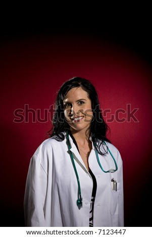 Young female doctor - stock photo