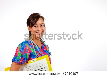 young female health care professional - stock photo