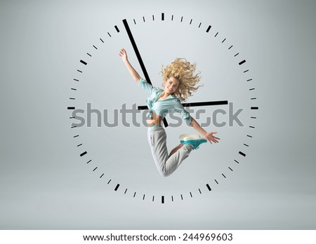 Young fit girl - stock photo