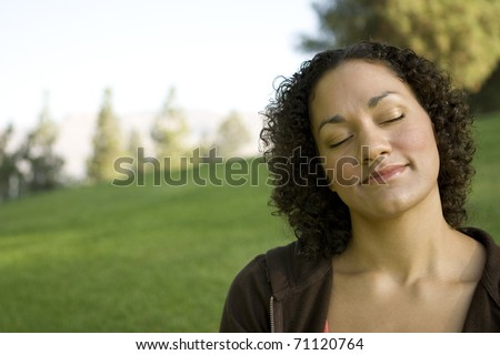 Young Girl Day Dreaming - stock photo
