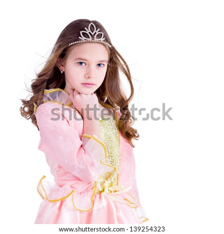 Young girl dressed as a princess - stock photo