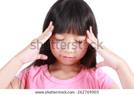 Young girl having stress - stock photo