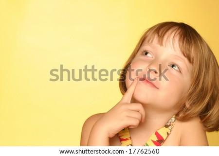 Young girl head shot - stock photo