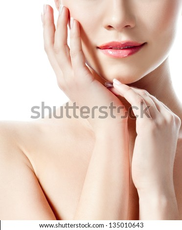 young girl .perfect skin. - stock photo