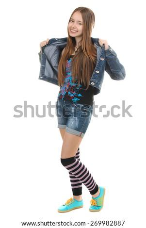 young girl teenager - stock photo