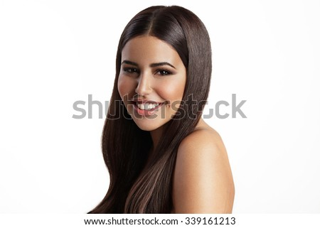 young girl with a healthy strobing skin - stock photo
