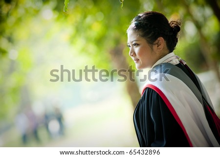 Young graduation - stock photo
