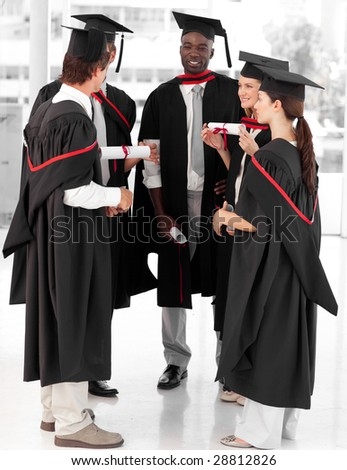 Young Group of people celebrating their Graduation - stock photo