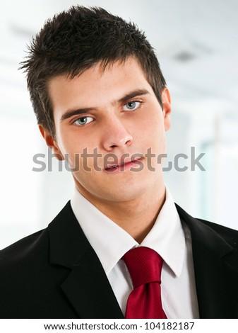 Young handsome businessman portrait - stock photo