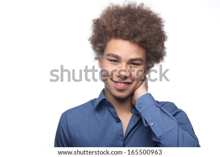 Young happy Afro Male  - stock photo